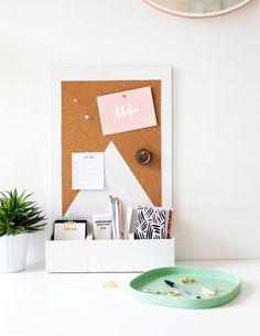 sugar & cloth | diy desk organiser idea | easy organization | craft tutorial for your workspace