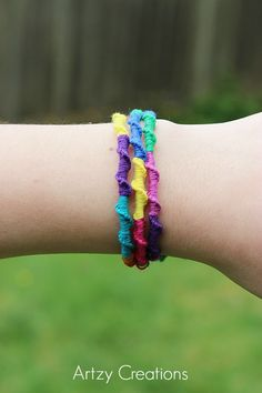 Chinese Ladder Friendship Bracelets  How-to by Artzy Creations