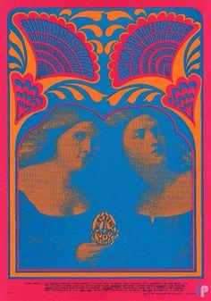 Chambers Brothers and Iron Butterfly at Avalon Ballroom 4/28-29/67 by Victor Moscoso. Inna Godda Vida Baby.