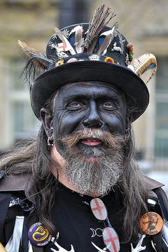 Hunters moon morris man ~ mainly in Cornwall but also often performers in Devon. GG