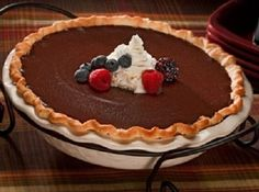 Hershey's Hotel Chocolate Pie ~ this is my favorite go-to recipe for chocolate pie.  It doesn't get any better than this!