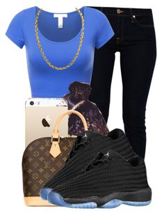 """."" by ray-royals ❤ liked on Polyvore featuring 7 For All Mankind and Louis Vuitton"