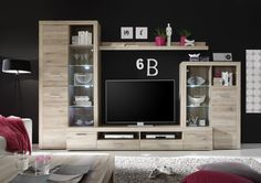 "The Festival Wall unit brings modern and clean design with great storage options, made with highest quality European MDF-4 wood. Dimensions: 122"" x 80"" x 18"" Television Plate size: 47"""