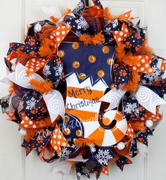 Custom Order for Valli Todd Catchpole, Auburn Christmas Wreath, Christmas Stocking Wreath