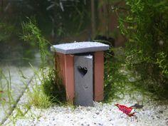 Garnelentoilette Nano Red Wood - Top Deko Aquarium Fische Garnelen