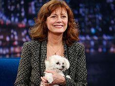 "Susan Sarandon and her dog ""Penny"""