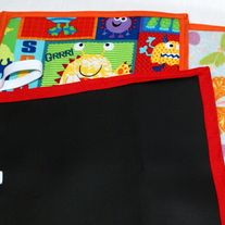 Travel Chalkboard Roll-up is a handmade lap chalkboard. It is great for car rides, long trips, and quiet time, learning, and drawing wherever you go. Chalkboards are very helpful as you can have hours of drawing/ writing fun without wasting tons of paper. Draw and erase and repeat as many times a...