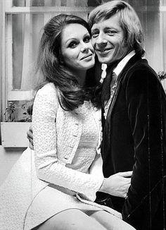 Joanna Lumley's first wedding to Jeremy Lloyd in 1970.
