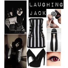 """""""Laughing Jack Inspired"""" by xxxxcreepypastaxxxx on Polyvore. Concratiolations on a 20th place in the Halloween."""