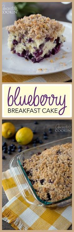 blueberry breakfast cake is jam-packed with flavor! Delicious blueberries make this breakfast one to make again and again.This blueberry breakfast cake is jam-packed with flavor! Delicious blueberries make this breakfast one to make again and again. Blueberry Breakfast, What's For Breakfast, Breakfast Items, Breakfast Dishes, Breakfast Recipes, Blueberry Cake, Breakfast Healthy, Breakfast Casserole, Brunch Recipes