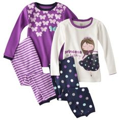 Carter's Kids Pajamas, Toddler Girls 4 Piece PJs Set | sweet ...