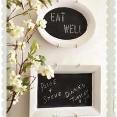 This would be cool I bet I could make my own with dollar tree plates and chalkboard paint