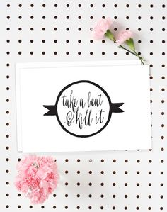 4-Pack of Flat Notecards - Stationery With Envelopes - Take a Beat & Kill It