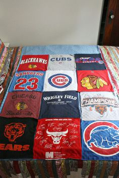 T shirt blanket tutorial.