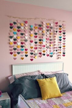 DIY deco youth room provides more individuality and well-being - diy deko jugendzimmer wanddeko ideen mädchenzimmer - Girls Room Wall Decor, Diy Room Decor, Bedroom Decor, Bedroom Ideas, Ikea Bedroom, Bedroom Furniture, Bedroom Crafts, Bedroom Inspiration, Bedroom Wall