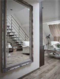 Large Gold Wall Mirror luxurious bedroom interior | decor & accessories | pinterest