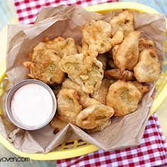 Fried Pickles With Spicy Ranch