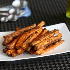 Sweet potato fries with a little spice! Crisp on the outside and creamy on the inside...