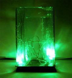 Lampara LED rectangular, reciclada. USB > 5voltios . www.usofull.com.ve