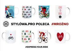 Zapraszamy na prezentację naszych kubeczków z motywem rowerowym Mugs, Tableware, Dinnerware, Tumblers, Dishes, Mug, Cups