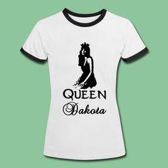 Dakota Johnson Shirts - Queen Dakota. Beautiful and unique design for all true fans. #dakotajohnson #fiftyshades #anastasiasteele #actress #queen #fan #dakoholics #support #tees #shirts #gifts #merchandise