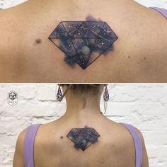 Gorgeous Galaxy-Inspired Tattoos By Ola Pelczarska