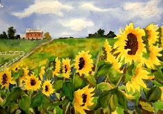 HammelmanArt: The Last of the Sunflowers
