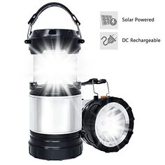 #fishingshopnow Solar LED Lantern, APPHOME 2-In-1 Camping Lantern Handheld Flashlights, Camping Gear Equipment for Outdoor Hiking, Camping…