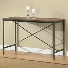 Elements Cross-design Grey Sofa Table - Free Shipping Today - Overstock.com - 13045307 - Mobile