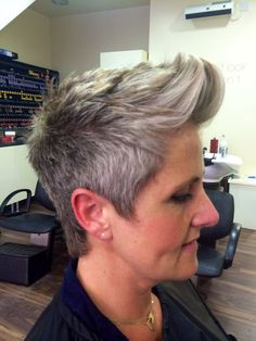 Women's Short hair cut with quiff