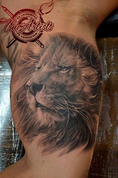 Entry 3 is a great lion tattoo by TrueArtists Alvin Yong...