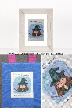 Accountant or Magician Beginner Cross Stitch Pattern, accounting witch cross stitch pattern, Witch, Halloween, PDF cross stitch pattern by NaughtsCrossStitches Cross Stitches, Cross Stitch Patterns, Holiday Banner, Xmas Cross Stitch, Easter Cross, Witches Brew, Pattern Images, Cute Characters, Cute Pattern