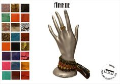 fringed leather bracelets by amelie