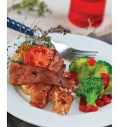 """CLICK PIC  2x for Recipe....  ..Chicken with Bacon, Tomato, and Thyme.. ...Recipe by George Stella... ...For tons more Low Carb recipes visit us at """"Low Carbing Among Friends"""" on Facebook"""