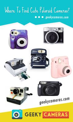 Get your Polaroid camera today @ http://www.geekycameras.com/find-cute-polaroid-cameras/  Looking for cute polaroid cameras? Here's an article for ya!