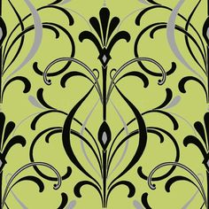 Art deco wallpaper pattern