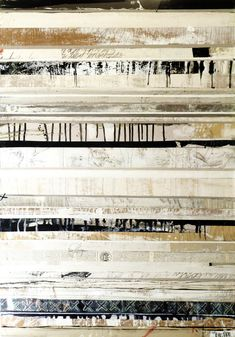 "crossing boundaries by Brenda Holzke | 41""x 28.5 mixed media on wood board #lines #stripes"