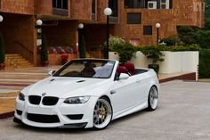 bmw, red leather, convertable