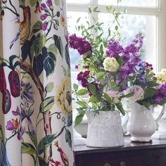 Spring is well under way! Beautiful curtain fabric from Prestigious Textiles, handmade by us for your home! William Morris, Interior Design Inspiration, Color Inspiration, Prestigious Textiles, Beautiful Curtains, Made To Measure Curtains, Curtain Fabric, Of Wallpaper, Window Curtains