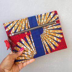 African Clutch / makeup bag handmade ankara clutch / by JuneThirty
