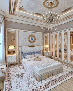 Enhance Your Senses With Luxury Home Decor Luxury Bedroom Design, Bedroom Bed Design, Bedroom Furniture Design, Luxury Home Decor, Home Decor Bedroom, Modern Bedroom, Home Interior Design, Luxury Homes, Bedroom Ideas