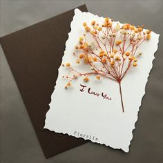 Pressed Flower Art, Plant Art, Ikebana, Flower Cards, Dried Flowers, Flower Decorations, Paper Cutting, Diy And Crafts, Floral