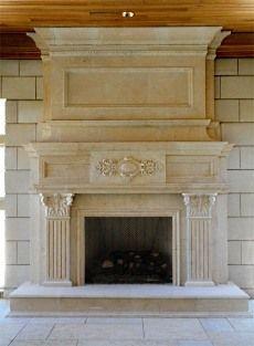 Faux fireplace finto camino luigi xv con camino elettrico - Finto camino decorativo ...