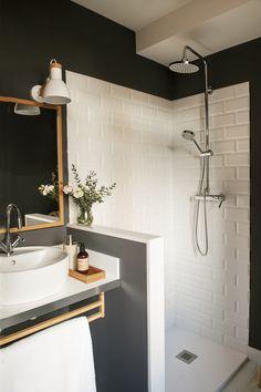 Bathroom Design & Decor - 7 Great Ideas for Your Bathroom Remodel - Ribbons & Stars Big Bathrooms, Rustic Bathrooms, Modern Bathroom, Small Bathroom, White Bathroom, Bathroom Storage, Bad Inspiration, Bathroom Inspiration, Dressing Room Design