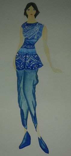 9th. Yeah, I designed a motif outfit. #fashiondesign #outfit #pants #motif