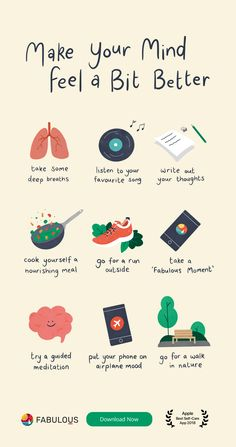 * Put your mind at ease with a few of these suggestions Great Great 10 byte h. Positive Quotes, Motivational Quotes, Inspirational Quotes, Better Life, Feel Better, Self Care Bullet Journal, Vie Motivation, Self Care Activities, Self Improvement Tips