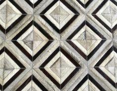 LIFESTYLE by Cara - Barrio Norte cowhide patchwork rug in off white + light grey + dark chocolate