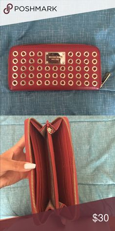 Michael Kora Wallet A red Michael Kors wallet. Nothing is wrong with it still in great condition MICHAEL Michael Kors Bags Wallets