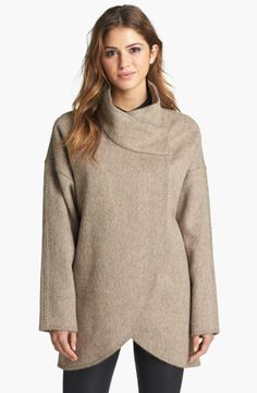 Brown Wrap Sweater Jacket.