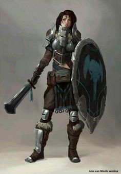f Fighter Plate Armor Shield Sword midlvl
